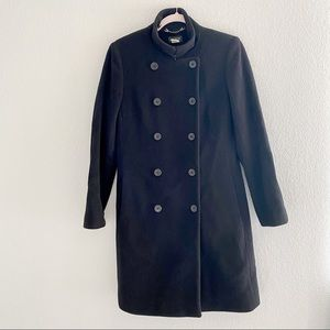 J. Crew Double Breasted Black Peacoat Size 6